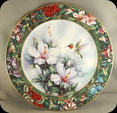 Lena Liu The Ruby-Throated Hummingbird Collector Plate Treasury Collection