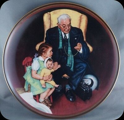 Norman Rockwell Tender Loving Care The Ones We Love Collector Plate.