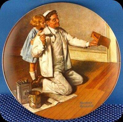 Norman Rockwell The Painter Heritage Series Plate.