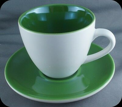 Starbucks  Espreso Coffee Cup and Saucer Green