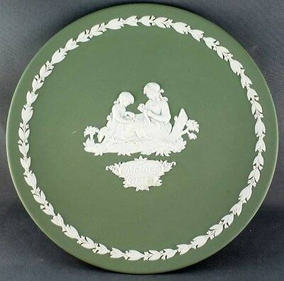 Vintage Green Jasper Wedgwood 1973 Mothers Day Plate