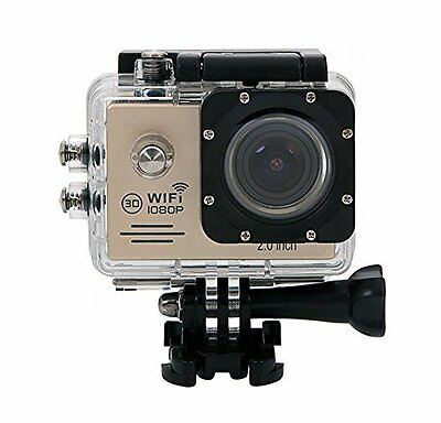 "Lightdow LD6000 1080P HD Wifi Sports Action Camera Kit - 2.0"" LCD + 170° Wide An"