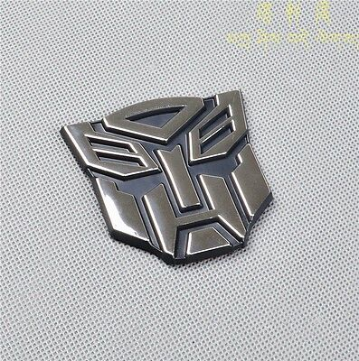 3D Logo Transformers Autobot Emblem Badge Sticker Decal Graphics Car 1pcs New
