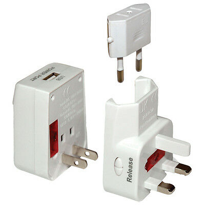 Big Deal -- 10 X Universal World Travel Adaptor with USB Power Port for $149.95