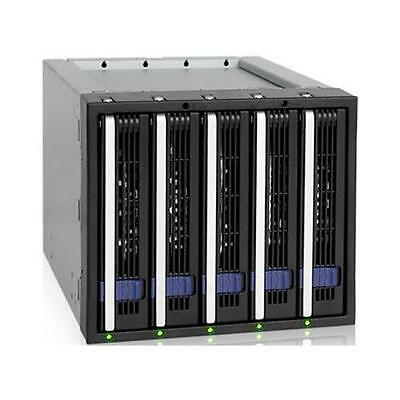"""ICY DOCK 5x3.5""""HDD in 3x5.25"""" Bay Hot-Swap SATA 6Gbps HDD Cage Storage MB155SP-B"""