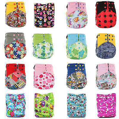 New Baby Printed Washable Nappy Reusable Cloth Diaper Cover Wrap Pad