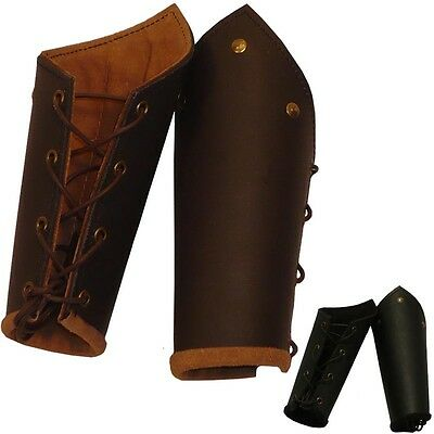 Quality Leather Battle Bracers Ideal for Stage Costume & LARP Choice Of Colours