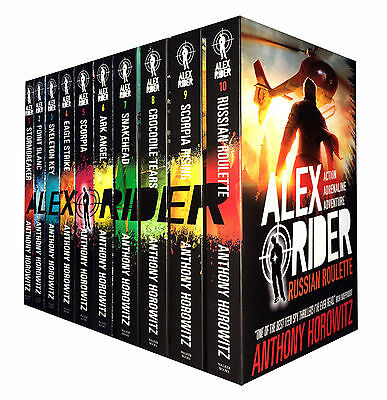 Alex Rider Collection 10 Books Set Anthony Horowitz Russian Roulette Scorpia Ris