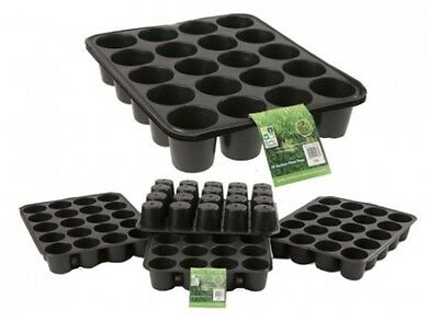 Pack Of 3 Roots & Shoots 20 Section Round Segment Plastic Seed Plant Tray