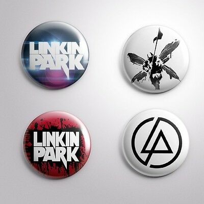 LINKIN PARK ROCK BAND - 4 Pinbacks Badge Button 25mm 1''