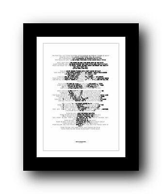 BRUCE SPRINGSTEEN Point Blank ❤ song lyric poster typography Print - 5 sizes #29