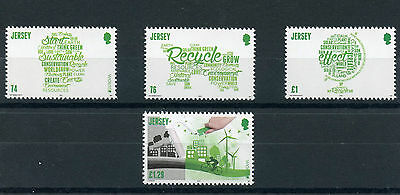 Jersey 2016 MNH Europa Think Green 4v Set Recycling Conservation Bicycles Stamps