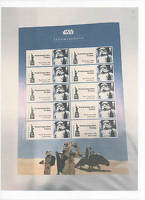 Gb 2016 New York Show Set Of 4 Star Wars Exclusive Smilers Sheets Ltd Edition