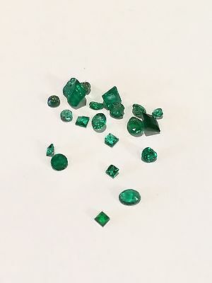 Selection of Loose Chipped Emeralds - 2.69cts - Various Shapes