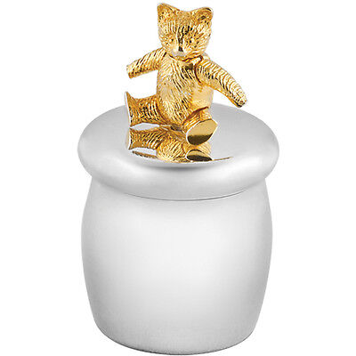 Tooth Fairy Box With Gold Plated Moving Teddy Bear 925 Silver From Ari D Norman