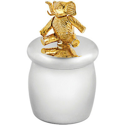 Tooth Fairy Box With Gold Plated Moving Elephant 925 Silver From Ari D Norman