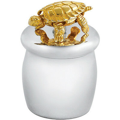 Tooth Fairy Box With Gold Plated Moving Turtle 925 Silver New From Ari D Norman