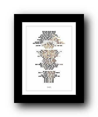 BRUCE SPRINGSTEEN ❤  She s The One ❤ song lyric poster art typography Print #32