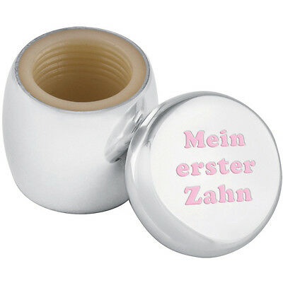 Tooth Fairy Box With Engraved 'mein Erster Zahn' In Pink Ename From Ari D Norman