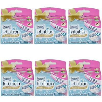 6x Wilkinson Intuition Naturals Sensitiv Care 18 Rasierklingen Mit Aloe Vera