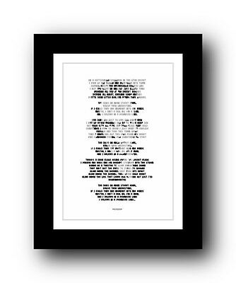 BRUCE SPRINGSTEEN The Promised Land ❤ song lyric poster art typography Print #37