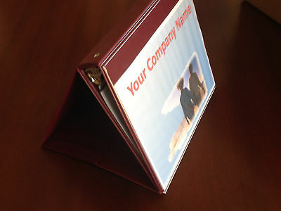 """2-Free Standing Presentation Round Ring Binders- 1"""" Capacity With built in Stand"""
