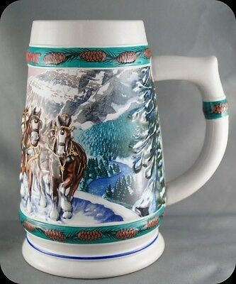 Nora Koerber Budweiser Holiday Stein Special Delivery 1993