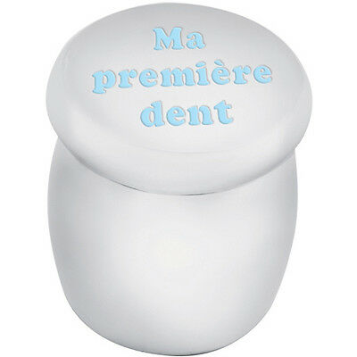 Tooth Fairy Box Engraved 'ma Premiere Dent' In Blue Enamel From Ari D Norman
