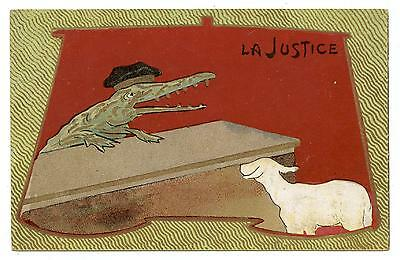 Satire.caricature.justice.the Crocodile And The Lamb.le Crocodile Et L'agneau.