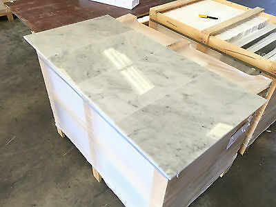 Bianco Carrara, Polished Marble Tile, Floor & Wall Tiles, 305X614X10MM, 15m2