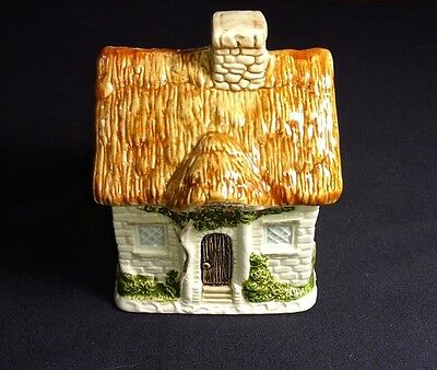 Vintage Otagiri Hand Painted Victorian Ceramic House Sugar Bowl Japan Kitchen