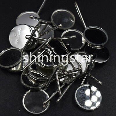 50 Pcs Dental Orthodontic Stainless Steel Mouth Mirror Mirrors 4# Odontoscope
