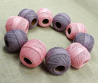 Set of 10 Pcs Cotton Crochet Spun Skein Yarn Thread Ball Knitting Embroidery
