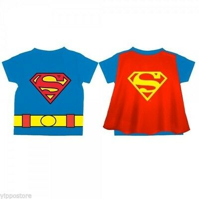 DC Comics Officially Licensed Superman Logo Toddler's Blue Cape T-Shirt