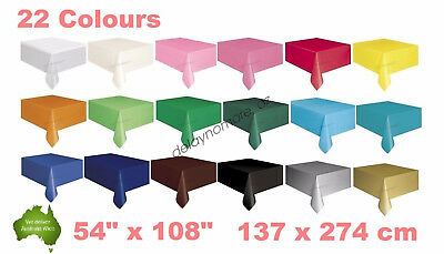 Wedding Party Tablecover Table Cover Cloth Plastic Tablecloth Birthday 22 Colour