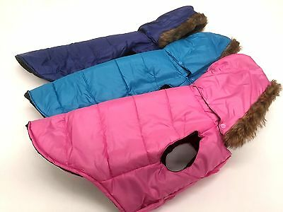 Water Proof Warm Winter Dog Puppy Coat Jacket With Removable Hood Assorted Size