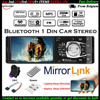 4.1'' Single 1 Din Car MP5 MP3 Player FM Radio TF Stereo Wheel Control