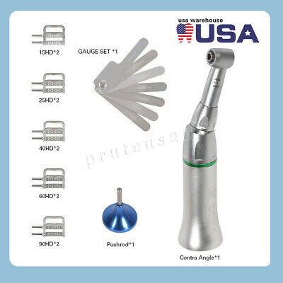 4:1 Reduction Dental Contra Angle IPR Handpiece + 10 Interproximal Strips Kit