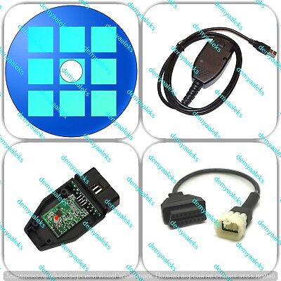 OBD2 USB Cable + adapter for TuneECU KTM Motorcycles FTDI FT232 Tune Ecu
