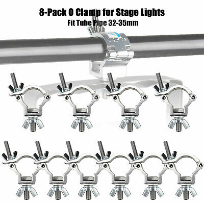 8-Pack LOAD 75 kg O Clamp Hook Mount For DJ Party Stage Lights Pipe 32-35mm