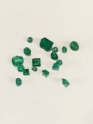 Selection of Loose Chipped Emeralds - 2.45cts - Various Shapes