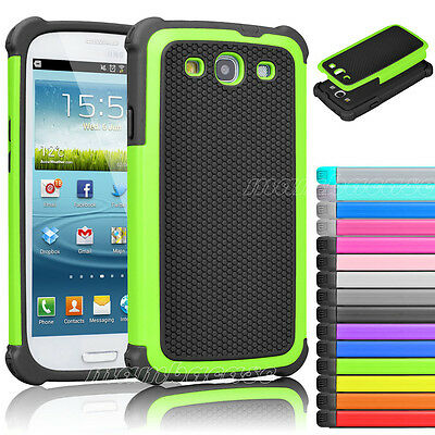 Dual Layer Hybrid Rubber Shockproof Hard Case Cover For Samsung Galaxy S3 i9300