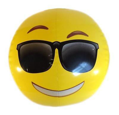 Inflatable Blow Up Cool Shades Sunglasses Emoji Smiling Face Beach Ball Gift Toy