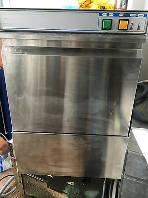 Mach Commercial Glasswasher/Bar/Glass Washer, 400mm Basket/ Pump Drain