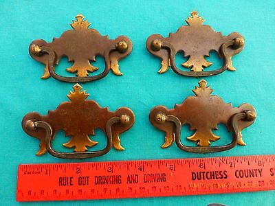 4 Vintage door Drawer Handles Pulls Tin  (bag #44)