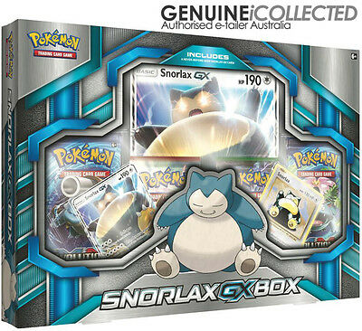 Snorlax GX Pokemon Card Collection Box | 3 x Holo Promo + 4 x Booster Pack