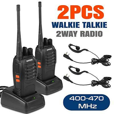 2x Baofeng BF-888S UHF 400-470MHz Two-way Ham Radio Long Range Walkie Talkie UK