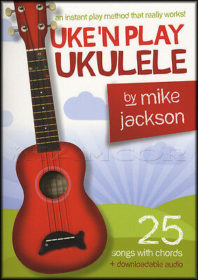 Uke'n Play Ukulele Chord Songbook Method Learn How To Play Book with Audio