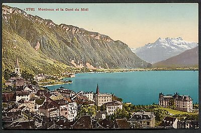 C1930's View of Montreux, Lake Geneva, Switzerland