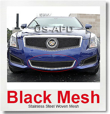 Fits Cadillac ATS Stainless Black Bumper Mesh Grille 2013-2014